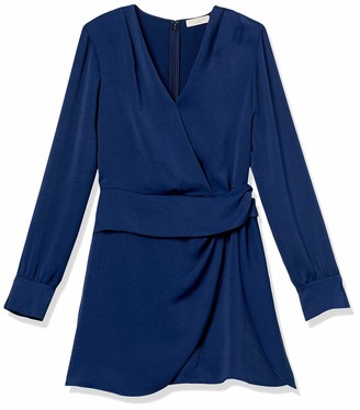 Ramy Brook Women's Lorena Long Sleeve V Neck Peplum Dress