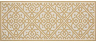 "Waverly Fancy and Free ""Lace It Up"" Gold/White Area Rug Rug Size: Rectangle 1'10"" x 4'6"""
