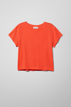 Weekday Frances T-shirt - Orange