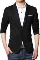 Partiss Men's Slim Fit One Button Business Blazers,L