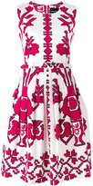 Samantha Sung sleeveless printed dress - women - Cotton/Spandex/Elastane - 6