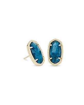 Kendra Scott Ellie Stud Earrings in Aqua Apatite