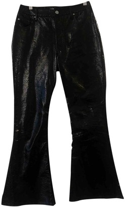 Beaufille Black Cotton Trousers for Women