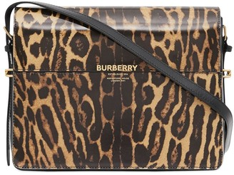 Burberry large leopard print Grace shoulder bag