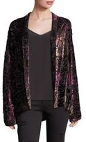 The Kooples Burnout Velvet Kimono Jacket