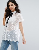 Little White Lies Simone Lace Shirt