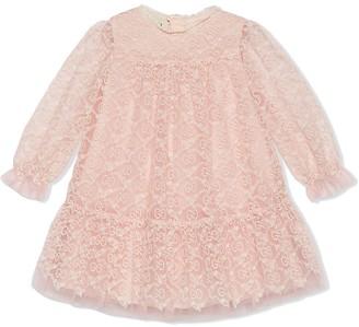 Gucci Kids GG garland embroidered dress