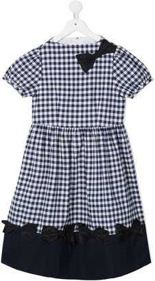Familiar Gingham Flared Dress