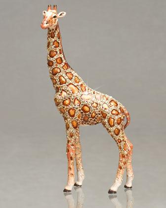 """Jay Strongwater Palidore"""" Giraffe Figurine"""