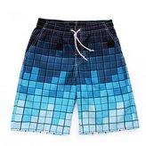 Zhuhaixmy Men's Printed Boxer Trunks Loose Beach Shorts Waterproof Spa Swimsuit