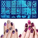 Nail Stamping Plates Manicure Template Nail Art Tools (8)