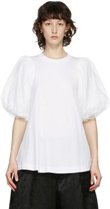 Simone Rocha White Tulle Sleeve T-Shirt