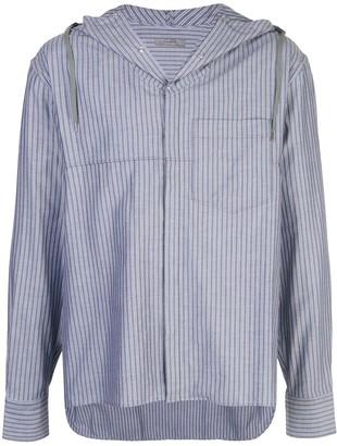 Lanvin striped hooded oversized shirt
