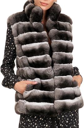 Gorski Chevron Chinchilla Fur Vest