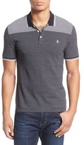 Original Penguin Jacquard Stripe Knit Polo