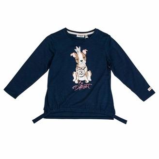 Salt&Pepper Salt and Pepper Girls' Cool & Crazy Hund mit Perlenkette Longsleeve T - Shirt