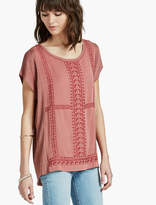 Lucky Brand Embroidered Sweater Poncho