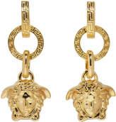 Versace Gold Three Ring Medusa Earrings