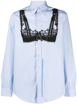 Random Identities Lingerie-Print Cotton Shirt