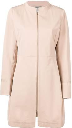 Herno structured front zip coat