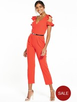 Miss Selfridge Frill Belted Jumpsuit
