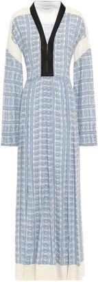 Philosophy di Lorenzo Serafini Belted Printed Crepe De Chine Maxi Dress