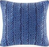 """Echo Shibori Embroidered 18"""" Square Decorative Pillow Bedding"""