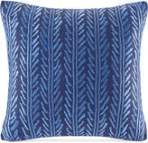 "Echo Shibori Embroidered 18"" Square Decorative Pillow"