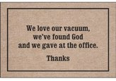 High Cotton Inc-We Love Our Vacuum Doormat