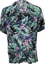 Urban Boundaries Island Collection Men's Short Sleeve Rayon Hawaiian Tropical Patterns Shirts (, XL)