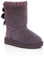 UGG Girls' Bailey Sheepskin Bow Ruffle Boots - Toddler