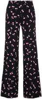 Miu Miu High waisted trousers with cherry pattern