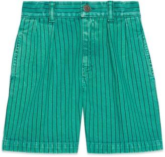 Gucci Children's striped cotton shorts