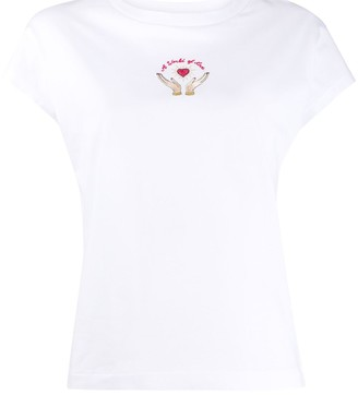 Sandro Paris embroidered logo T-shirt