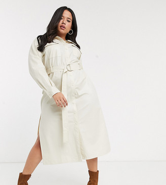 Skylar Rose Plus maxi shirt dress with belted waist