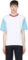 Sunnei White Colorblock T-shirt