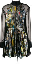 Sacai brush-stroke print blouse