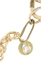 Lanvin Gold-tone crystal link necklace