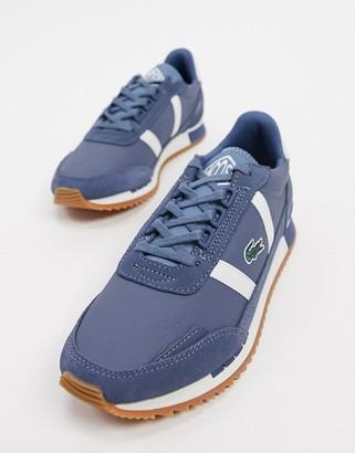 Lacoste partners retro leather sneakers in dark blue