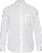 Ami Long-sleeved cotton-poplin shirt