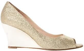 Oscar de la Renta Gold Glitter Heels