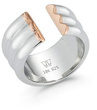 Walters Faith Thoby Two Tone 3 Row Tubular Cuff Ring