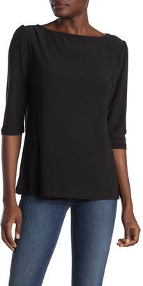 Halogen Elbow Sleeve Knit Top