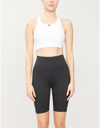 adidas Seamless stretch-jersey sports bra