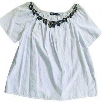Antik Batik Blue Cotton Top for Women