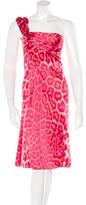 Just Cavalli Leopard Print Midi Dress w/ Tags