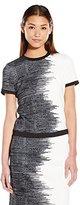 Calvin Klein Women's Printed Short Sleeve Scuba Top