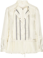 Moncler Mimet Crochet-trimmed Shell Down Jacket - Cream