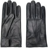 Emporio Armani embossed logo gloves - men - Lamb Skin/Wool - S