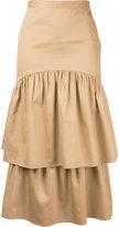 Maryam Nassir Zadeh 'Cala' two tier skirt - women - Cotton - 4